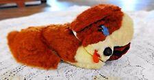 VINTAGE LUSH STUFFED SAINT BERNARD SLEEPING DOG VERY CUTE