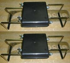 2 BOAT SEAT NEW JON BOAT SEAT CLAMPS WITH NO SWIVEL (SET OF 2)  MADE IN USA
