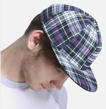 American Apparel Quilted Flannel Hat Cap Medium Charcoal Edward Plaid Checkered