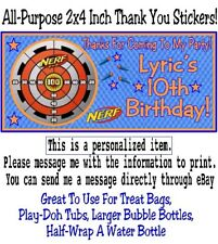 10 Nerf Gun Wars Target Birthday Party Or Baby Shower 2x4 Inch Stickers Favors
