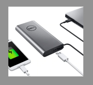 Powerful Dell Notebook Silver Power Bank - USB-C, 65Wh - PW7018LC (39FCW)