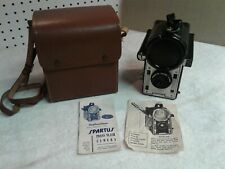Vintage 40s Spartus Press Flash Camera With Case & Flash Cover