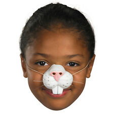 Child Bunny Rabbit Nose Latex with Elastic Band Easter Whiskers Girls Boys Kids