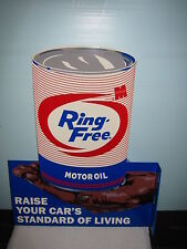 MACMILLAN RING FREE DIE CUT GAS STATION OIL CAN  DISPLAY SIGN NICE GRAPHIC'S