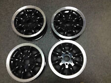 "Set of 4 5.0"" X 12"" Mini Minator Wheels Black Center / Diamond-Cut Rim PRICE CUT"