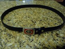New University of Georgia Bulldogs black belt men's size 44 pewter metal buckle