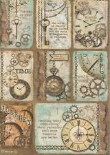 Rice Paper for Decoupage Scrapbook Craft Sheet-  Clockwise Cards