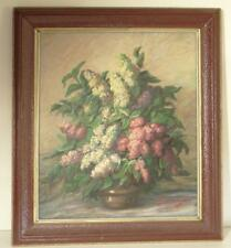 Magda Fuzessery Hungarian Oil Painting Cleveland 1964 June 28 Still Life Flowers