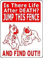 PITBULL GUARD DOG Aluminum Sign Decal Dogs D2503