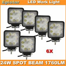 6X24W SPOT BEAM SQUARE LED WORK LIGHT TRACTOR FOG OFFROAD FOR TRUCK CAR UTE 4WD