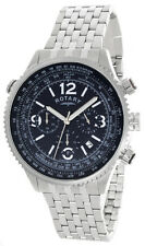 Rotary Mens Black Dial Stainless Steel Bracelet Watch GB00323/05/L 45mm