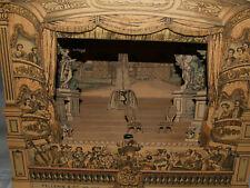 Ancien Theatre Français - lithographie EPINAL /bois - jardins Luxembourg + decor