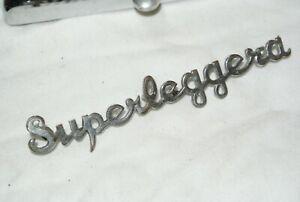 Aston Martin vintage Superleggera bonnet badges, DB4, 5, 6  script original