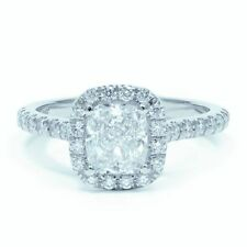 Cushion Halo Excellent Cut Fine Diamond Rings