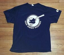 3243s San Diego Padres Navy Blue Solid XL Jerzees S/S Graphic T-Shirt!