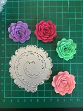 D034 Quilling Roll Up Flower Cutting Die For Sizzix Spellbinders Ect.Machine