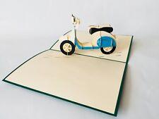 Vespa, 3D-Klappkarte, Pop-up Karte, Glückwunschkarte, Grußkarte