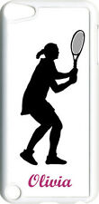 Monogrammed Sport Tennis iPod Touch 5th Gen 5G on White TPU Hard Case Cover