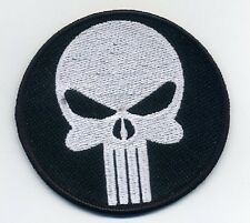 RESIDENT EVIL ZOMBIE OUTBREAK RACCOON CITIZEN ID VELCRO PATCH: Punisher Skull
