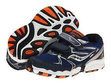 Saucony Little  Boys Non Tie Sneakers Navy/Silver/Orange Infants  Size 4 WIDE