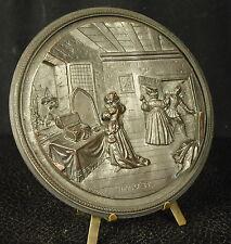 Médaille Faust conte fantastique populaire allemand par Vedel 114 mm medal 铜牌