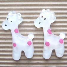 "US SELLER- 10pc x 1.5"" Resin Giraffe Flatback Beads for Bows/Zoo/Appliques SB78P"