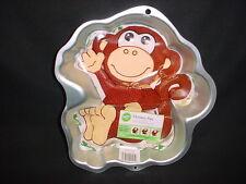 Wilton MONKEY cake pan ZOO metal mold tin INSTRUCT JUNGLE Ape Chimp Gorilla Baby