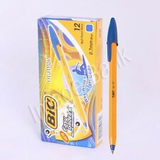New Bic Orange Fine 0.7mm Ball Point Pen -1Box / Easy Glide Ink - 12pcs