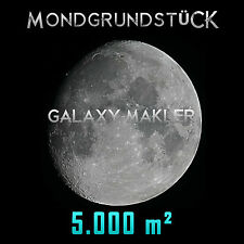 Mondgrundstück - Grundstück auf dem Mond 5.000 m² Geschenk Geburtstag Taufe