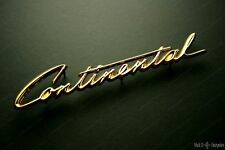 1958 Lincoln Continental Grille Script Nameplate in 24k Gold NEW BAK-6550400-A