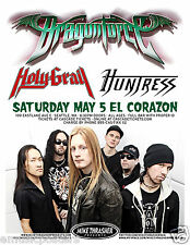 Dragonforce / Holy Grail / Huntress 2012 Seattle Concert Tour Poster -Metal