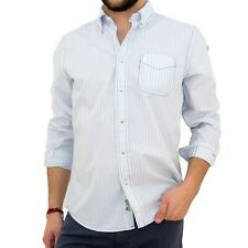 Camicia uomo MARLBORO CLASSICS regular fit a righe con taschino grigio 5013