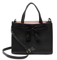 Kate Spade Hayes Street Isobel Small Handbag Crossbody Bag Satchel Black NWT New