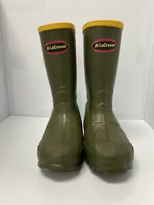 Lacrosse Kid's Waterproof Hunting Boots, Color GREEN, New Without Box