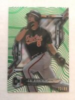 CAL RIPKEN Jr - 2018 Topps High Tek GREEN Parallel /99 - Card #HT-CR Orioles