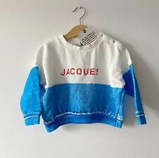Brand New Bobo Choses Blue White Jacques Sweatshirt 18-24 months BNWT Unisex