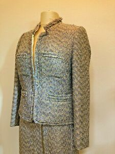 New J.Crew Collection Metallic Multi Color Tweed Jacket & Skirt Suit Size 6 NWT