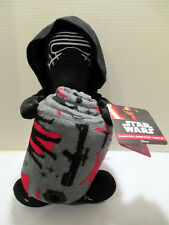 Star Wars Kylo Ren Character Super Plush Throw Set Fleece Blanket - NEW w/ Tags