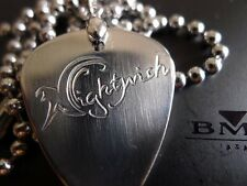 Nightwish Hand carving Stainless Steel Guitar Pick Necklace