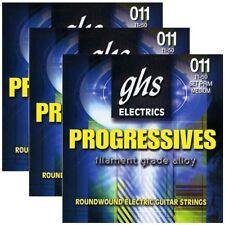 3 Sets Ghs Prm Progressives Roundwound Electric Guitar Strings, Medium (11-50)