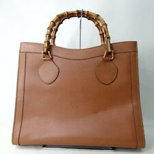 Authentic GUCCI Bamboo Tote Bag Leather[Used]