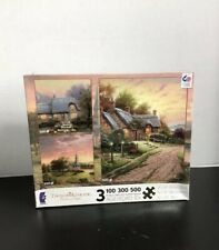 Thomas Kinkade painter of light Jigsaw Puzzles 3 in 1 100/300/500 pcs. by Ceaco