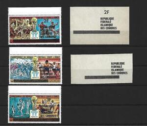Comoros,1979,World Cup,set+variant overpr.,MNH
