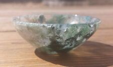 NATURAL MOSS AGATE STONE HANDCARVED GEMSTONE BOWL [57]