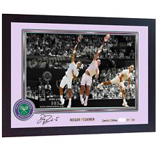 Roger Federer Signed Autographed Photo Print Wimbledon Framed