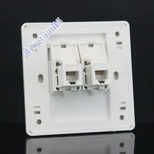 Wall Socket Plate Double RJ11 TEL Jack Modular Panel Faceplate Outlet RJ11