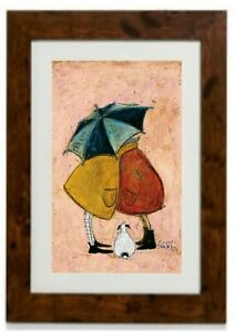 *NEW LARGER SIZE* A Sneaky One Framed Print By Sam Toft