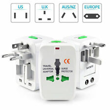 US to EU Europe & Universal AC Power Plug Worldwide Travel Adapter Converter NEW