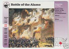 BATTLE OF THE ALAMO 1836 San Antonio Texas 1994 GROLIER STORY OF AMERICA CARD