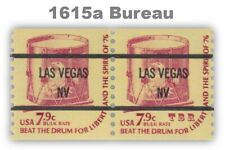 1615a Drum 7.9c LAS VEGAS NV 86 Precancel Americana Pair Shiny Gum MNH - Buy Now
